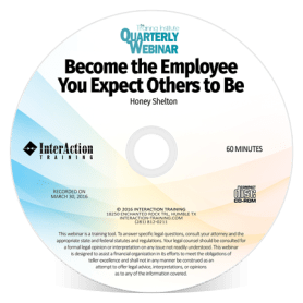 Become the Employee You Expect Others to Be webinar with Honey Shelton