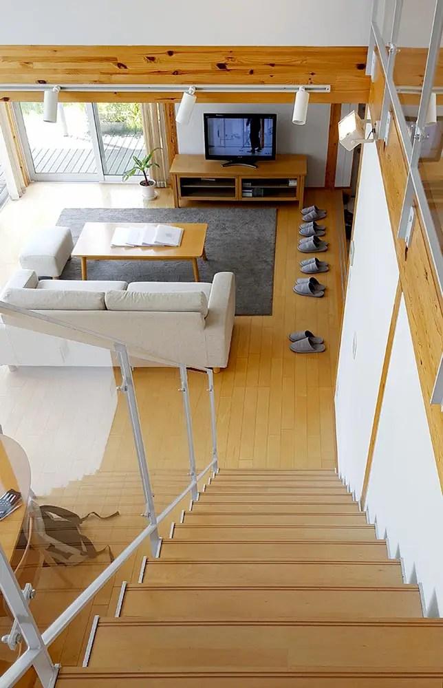 Muji House Stair 2Nd Floor 1000 644 Zero Abundance   Stairs To Second Floor Design   Bathroom Next   Space Saving   Square Shaped   Kitchen   Stairway