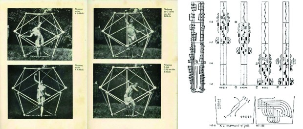 Fig. 1. Laban with Icosahedron model _ Labanotation