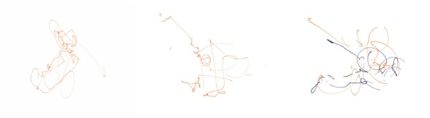 Fig. 12. Data from Improvised, Rule based and pre-choreographed movement