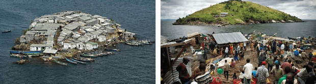 Migingo Island, Kenya. (2017). [image] Available at: http://travelgallery.dearjulius.com/2016/06/ migingo-island-kenya.html [Accessed 1 Jul. 2017]. & Mcleish, A. (2014). Market On Migingo Island. [image] Available at: http://www.amusingplanet. com/2014/01/the-tiny-fishing-community-on-migingo.html [Accessed 5 Jul. 2017].