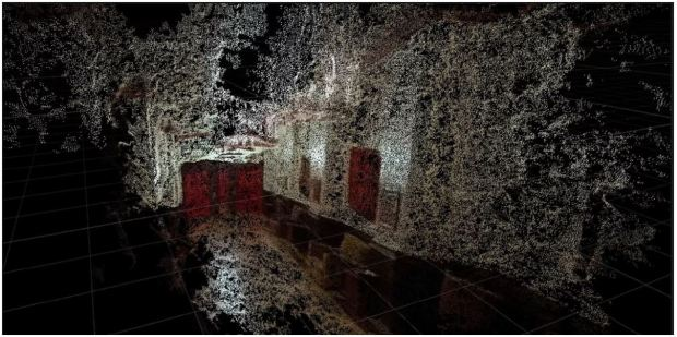 """Fig .13 Photogrammetry of the scene from """"The Shining"""""""