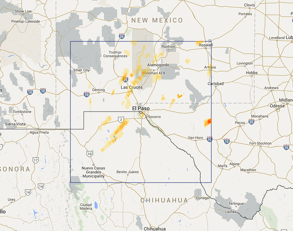 Interactive Hail Maps Available Regions