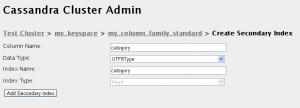 Formulario con los datos para el ejemplo