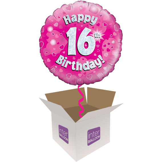 16th Birthday Helium Balloons Delivered in the UK by ... (568 x 568 Pixel)