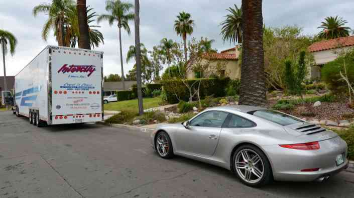 shipping a porsche in an enclosed trailer