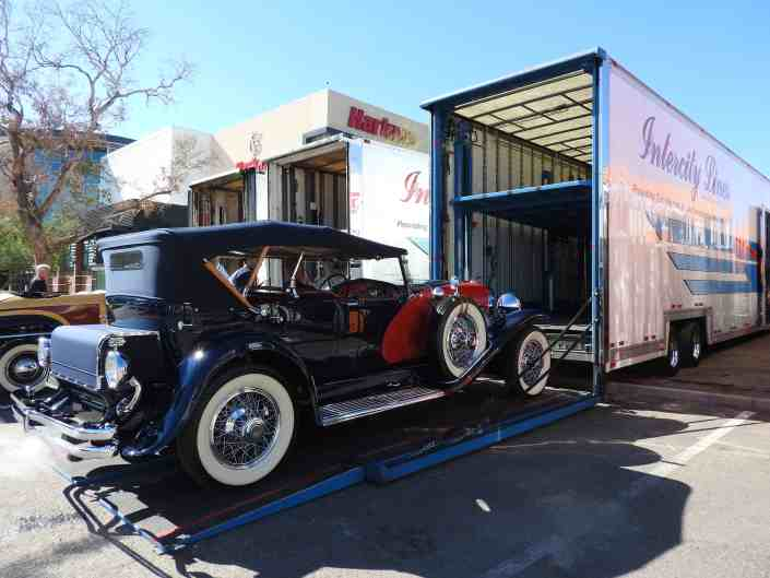 dusenberg enclosed auto transport