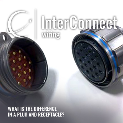 what is the difference in a plug and a receptacle interconnect wiring