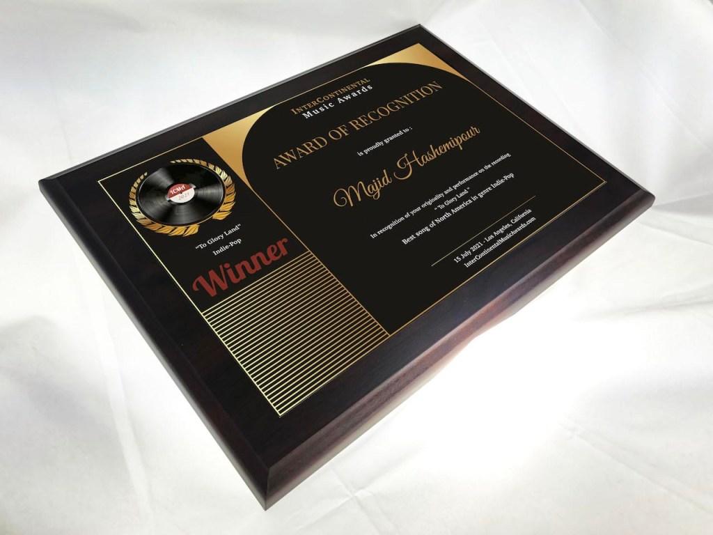 ICMA Winners Award Plaque