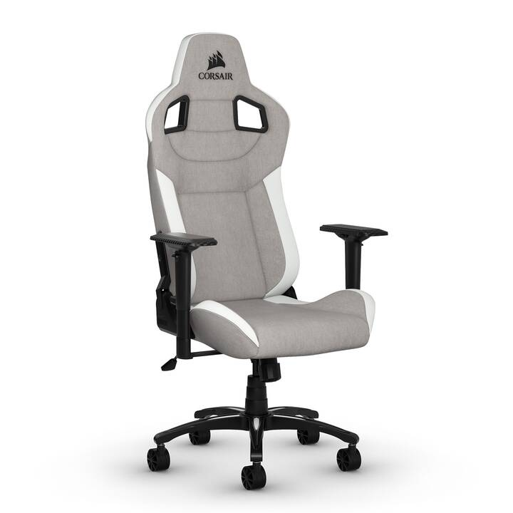 corsair t3 rush gaming chaise gris blanc noir
