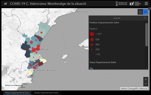 El departamento de salud del Hospital General de Valencia el más azotado por casos de COVID19
