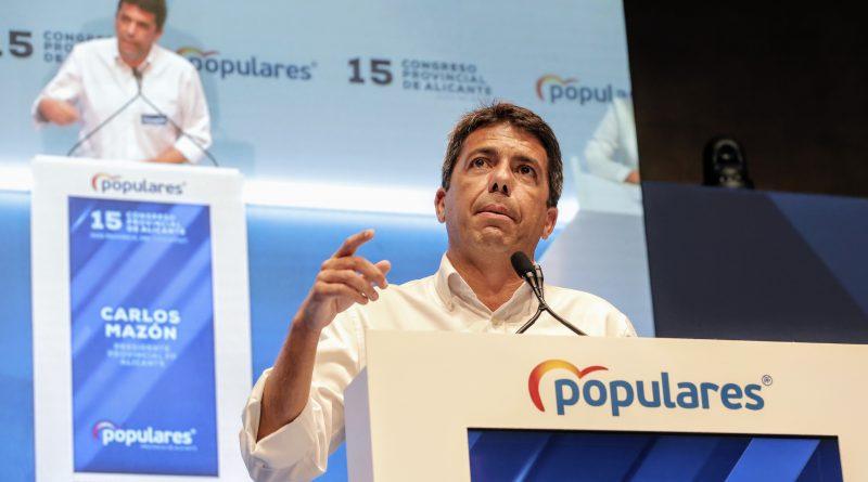 Carlos Mazón anuncia su candidatura a liderar el PPCV avalado por Génova