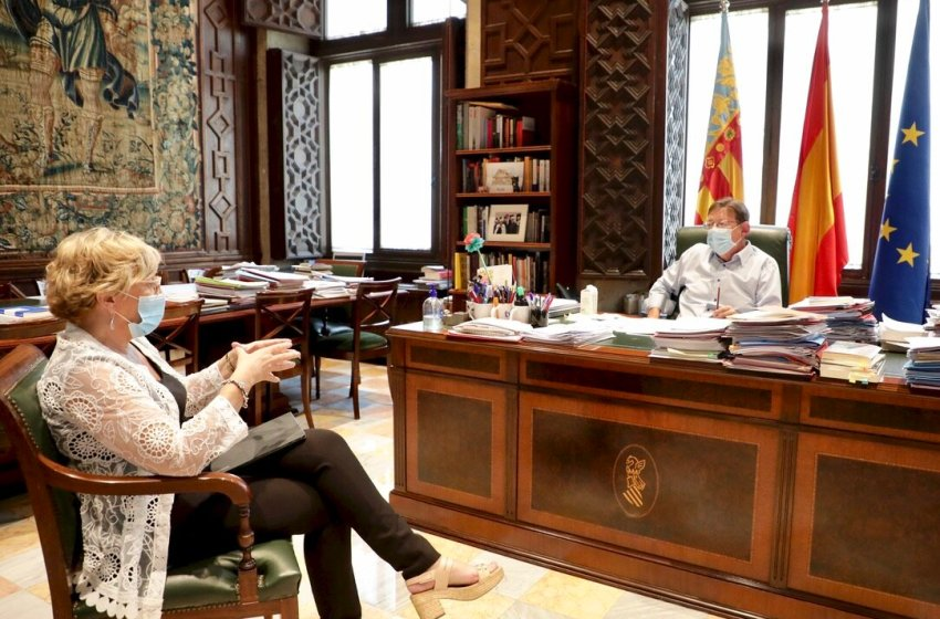 Ximo Puig analiza con la consellera de Sanidad la situación de la Comunitat Valenciana y las nuevas medidas dirigidas al control de los rebrotes de COVID-19