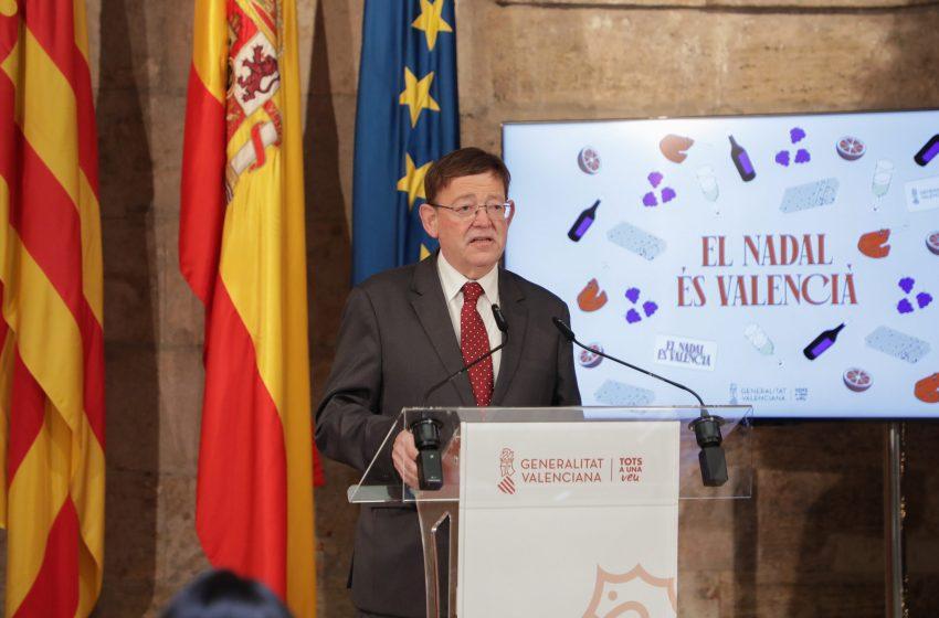 Ximo Puig apela a la ciudadanía a disfrutar de una Navidad 'valenciana, alegre y responsable'