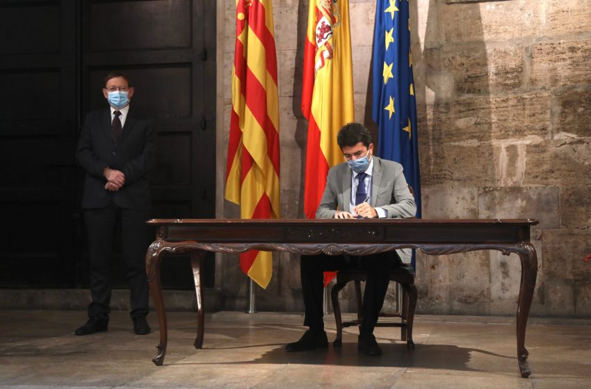 Mazón adhiere a la Diputación de Alicante a la alianza de buen gobierno impulsada por la Conselleria de Transparencia