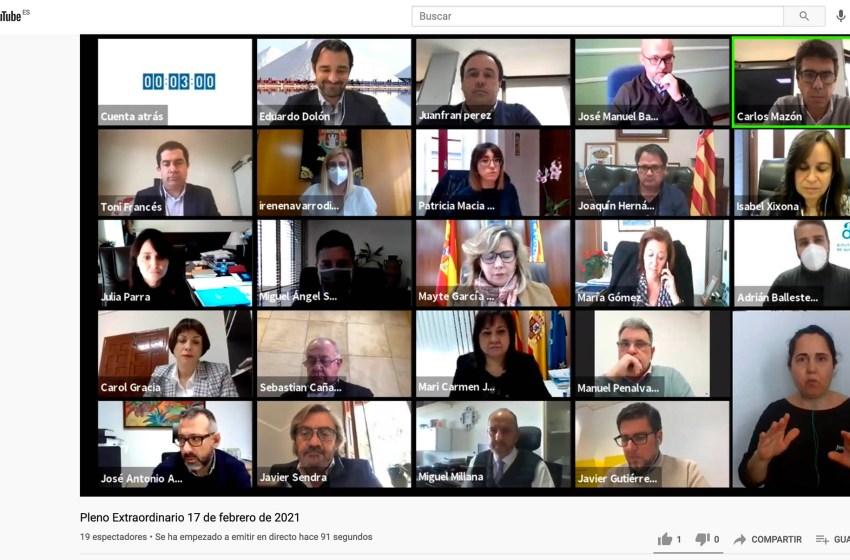 El pleno de la Diputación de Alicante aprueba 24 millones de euros en ayudas a pymes y autónomos afectados por el Covid