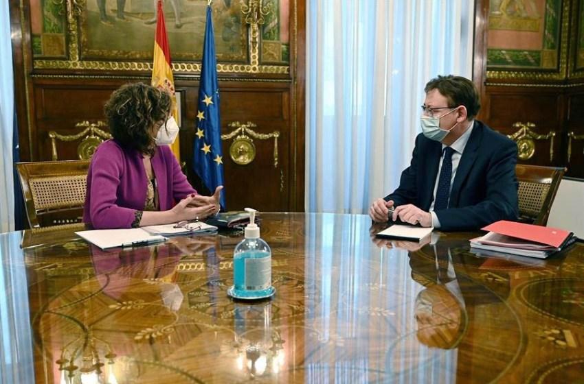 Puig traslada a la ministra Montero la necesidad de que se desbloquee la reforma del sistema de financiación autonómica