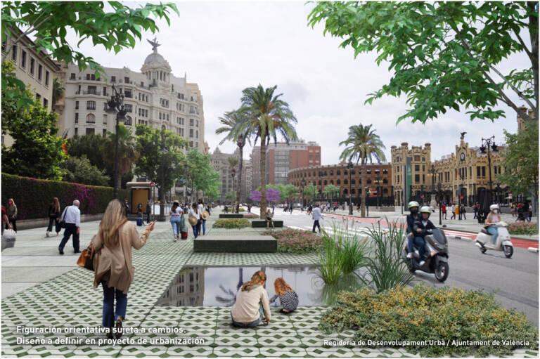 """València tendrá un """"bulevar cultural"""" desde Plaza de Toros al IVAM con 18.000 m2 para peatones"""