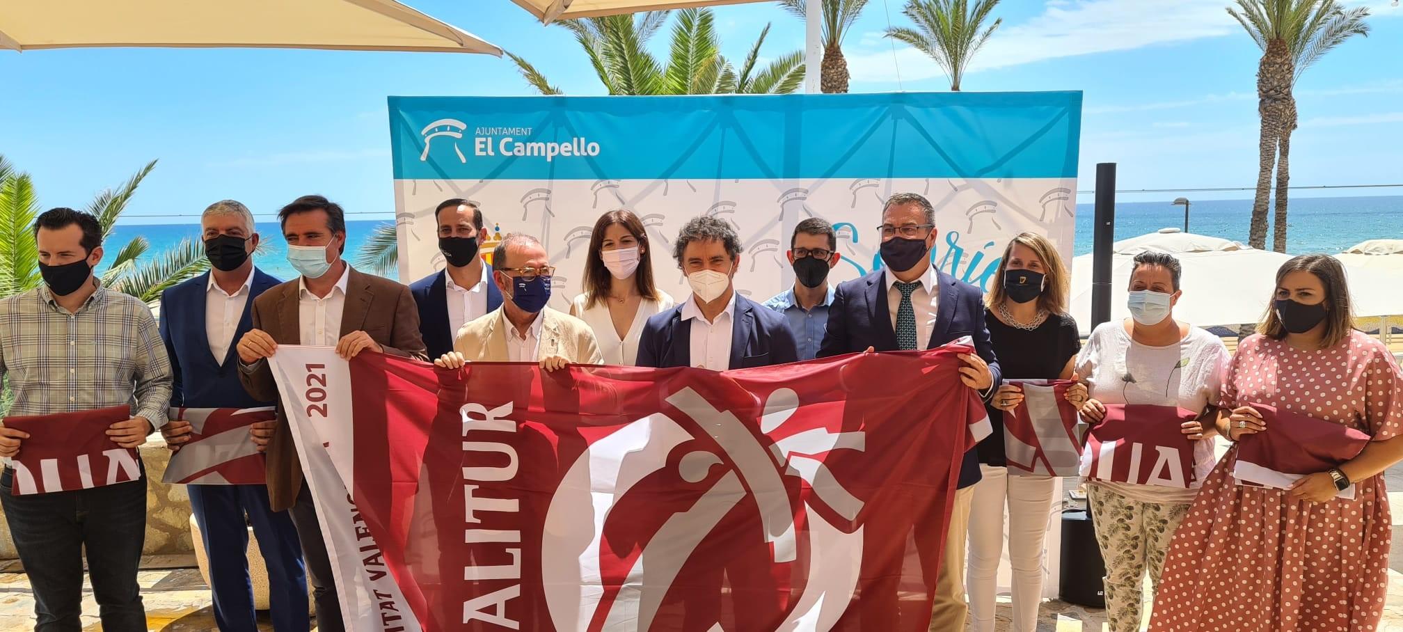 Turisme CV concede la Bandera Qualitur a 177 playas de 36 municipios de la Comunitat Valenciana