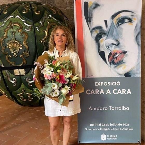 """La exposición """"Cara a cara"""" de Amparo Torralba expuesta en la sala dels Vilaragut del Castillo de Alaquàs"""