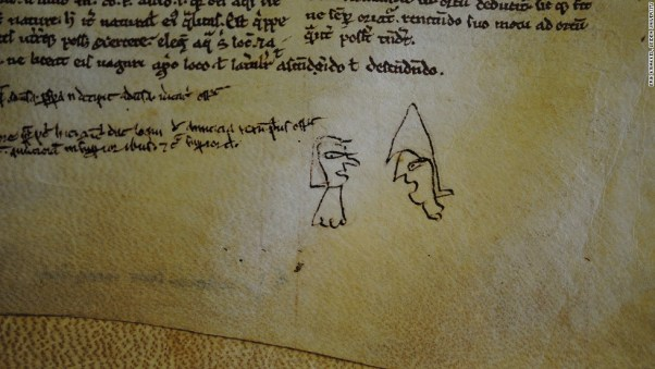 funny conversation medieval doodle