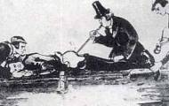 doctor administers tobaco smoke enema