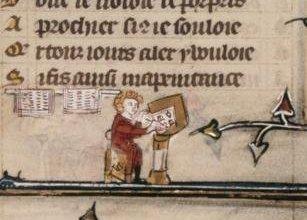 Medieval Advertising scribe