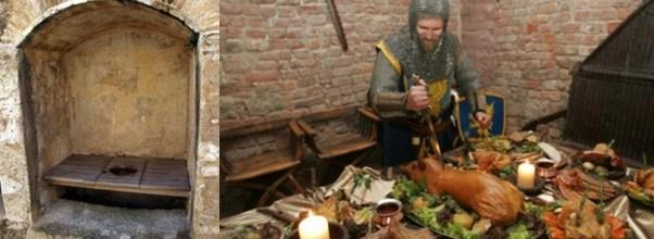 Medieval toilet at feast