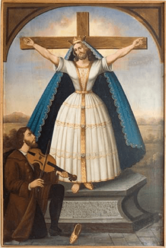 German image of St Wilgefortis. Wikimedia Commons. Public Domain