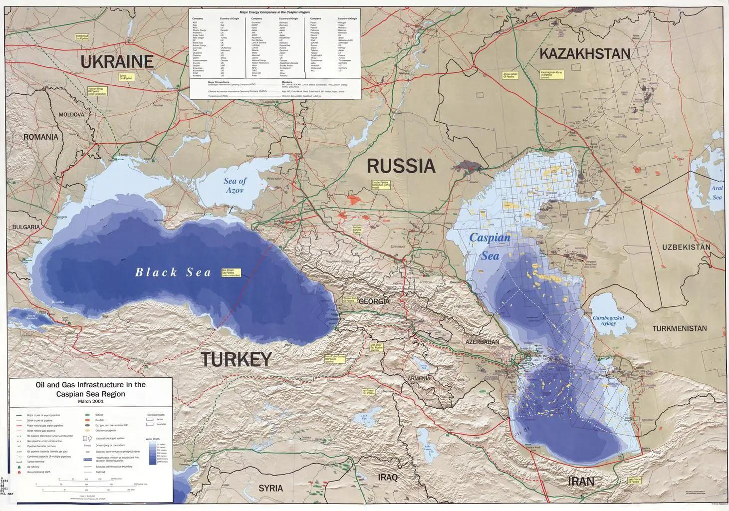 Caspian Sea | Map | Monster | Mountains | InterestingFacts.org
