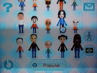 Alguns dos personagens í mostra no Check Mii Out!