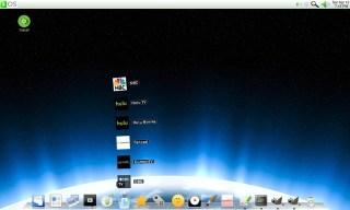 O desktop padrão do gOS