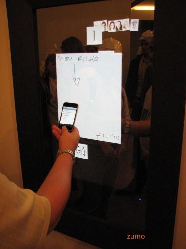 LCD sensível ao toque e o iPhone