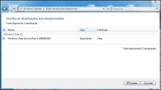 Windows Update: SP1 disponível