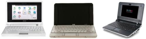 Asus eeePC, HP 2133 Mini-Note PC e Positivo Mobo