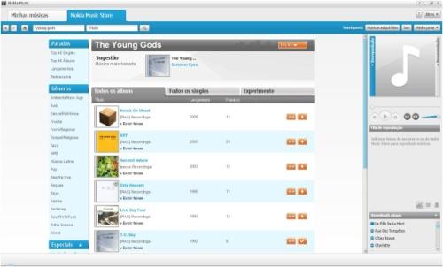 Compra no Comes With Music: downloads no canto da tela começam automaticamente