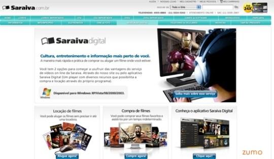 home page da Saraiva Digital