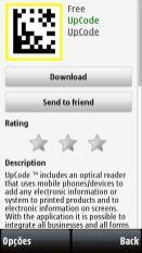 Página do UpCode, leitor de código de barras