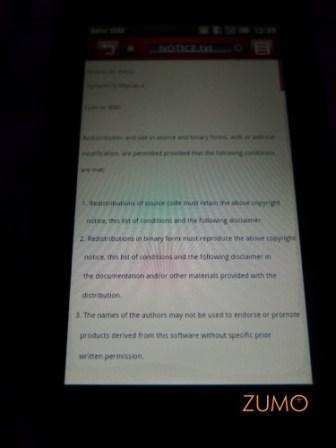 Mini 3iX: detalhe da licença de software