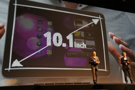 Samsung Galaxy Tab 10.1: tela graaaande