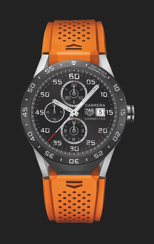 th-connected-watch-orange-strap-dial-on