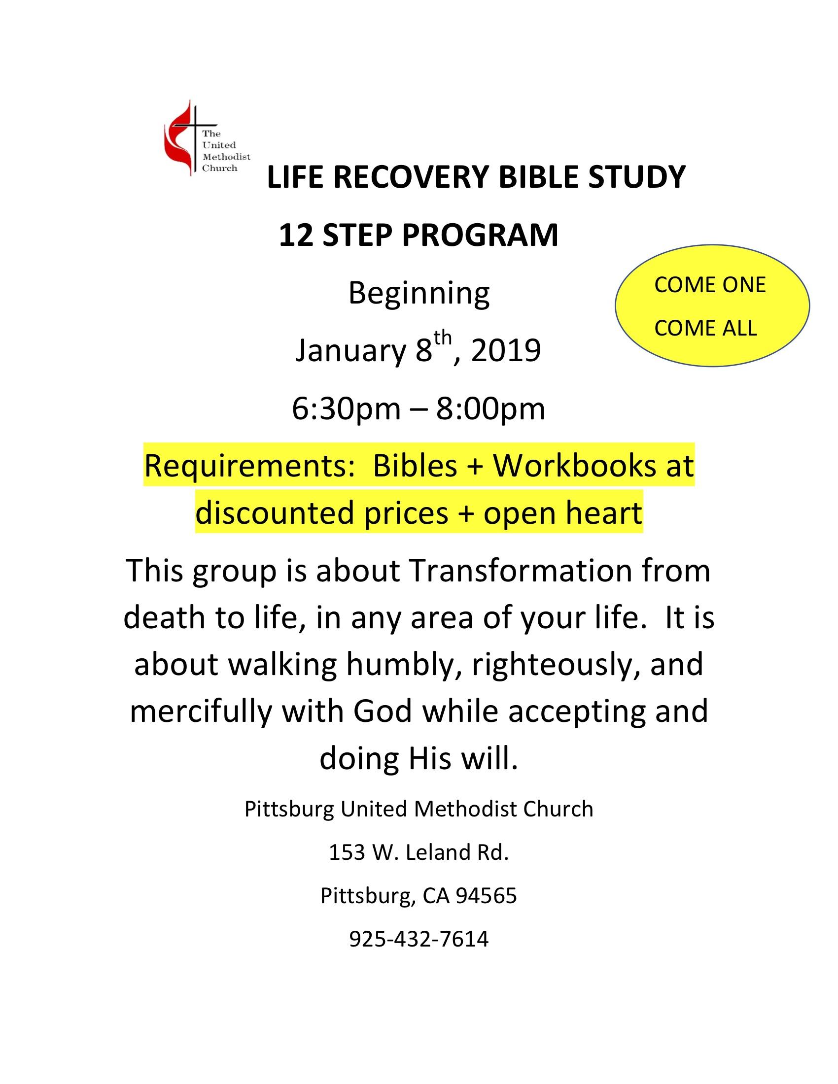 Life Recovery Bible Study 12 Step Program The Interfaith