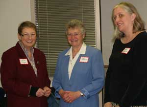 Chaplain in Residence. November 2007 - Corinne Spiegel, Sharon Collver and Helen Gerhardt enjoying a moment together.