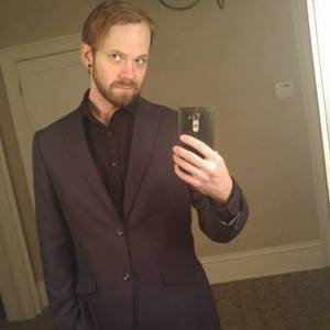 Derek Samford- Technologist, Artist - Selfie with suit