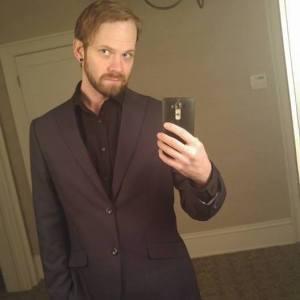 Derek Samford- Technologist, Artist - Selfie with suit