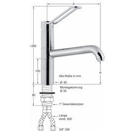 lever mixer sink faucet taya 1 2