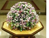 帝国ホテルロビーの生け花