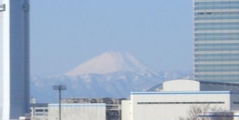 ゆりかもめから見る富士山