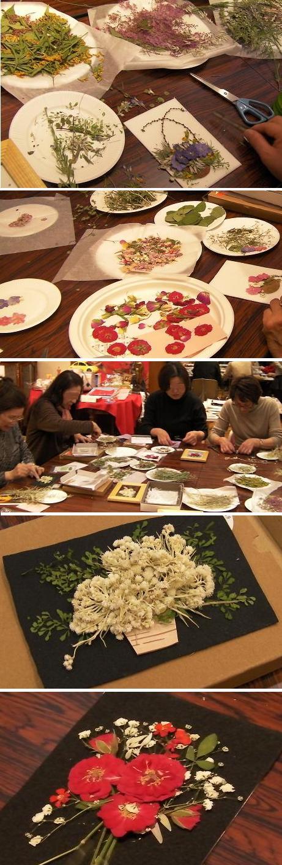 ノブコ永井 押し花アート教室
