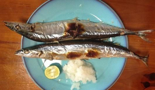 秋刀魚と大根と酢橘